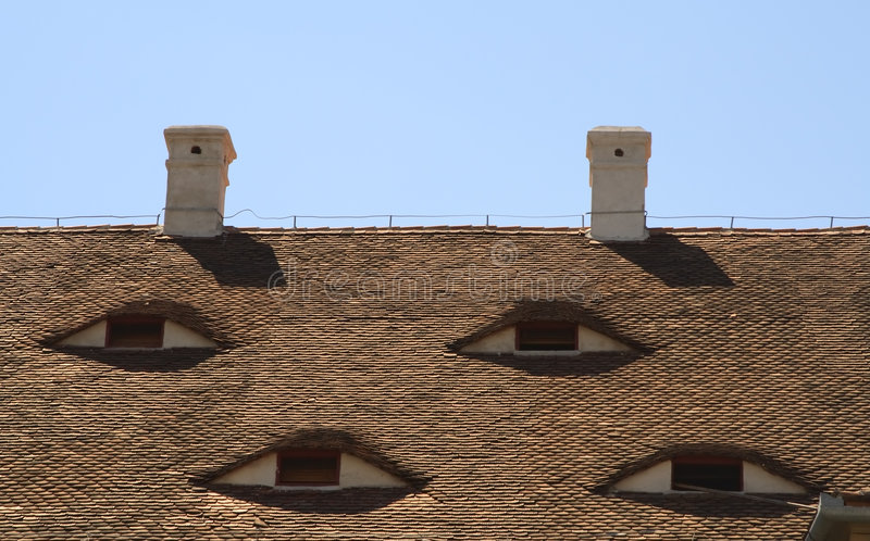 Roofs eyes royalty free stock images