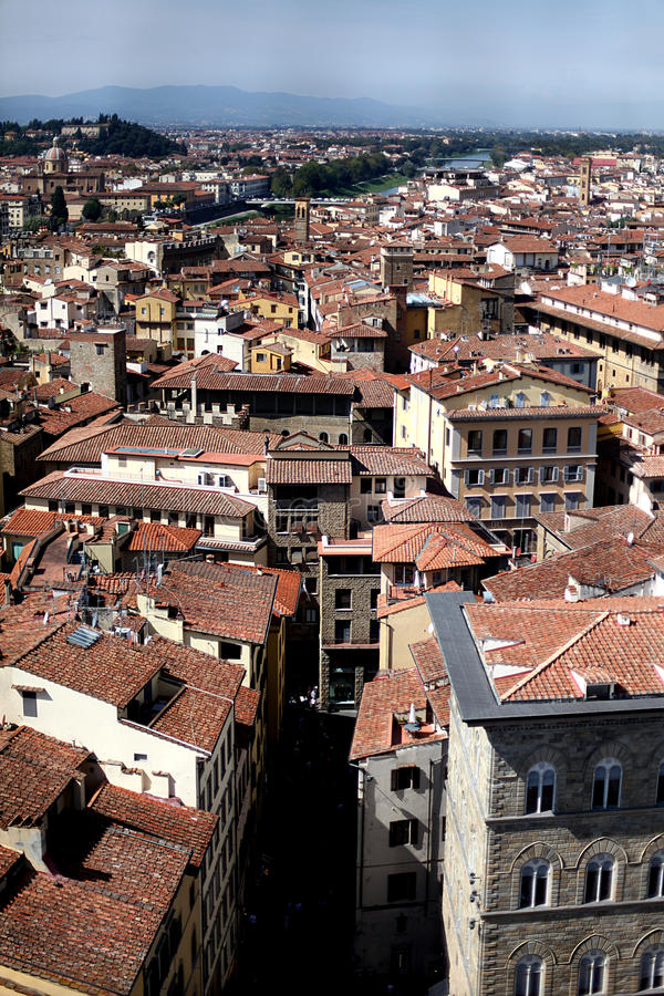 The roofs in Florence stock images