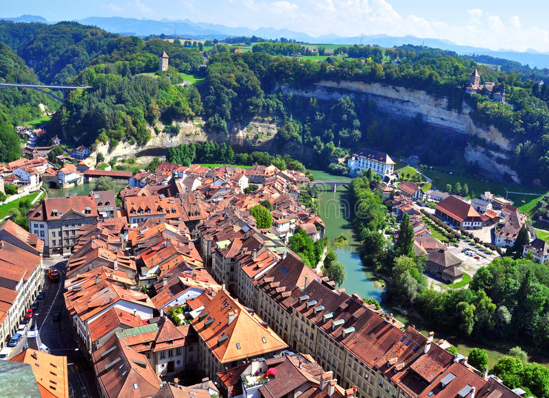 Download Roofs of Fribourg stock image. Image of fribourg, residential - 34958245