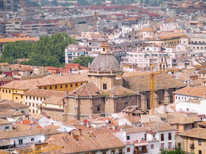 Roofs of Granada royalty free stock photos