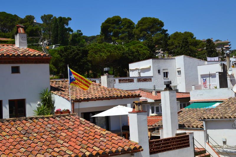 The roofs of the houses royalty free stock photos