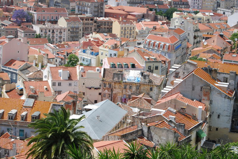 Roofs of Lisbon royalty free stock photo