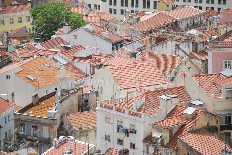 Roofs of Lisbon stock photos