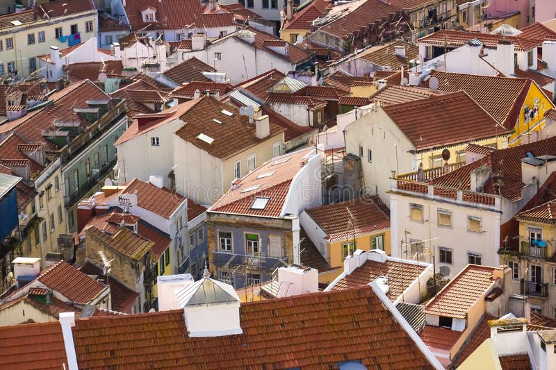 Roofs of Lisbon, Portugal royalty free stock photos