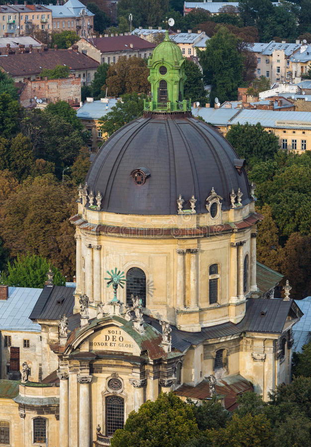 A roofs of Lviv royalty free stock image