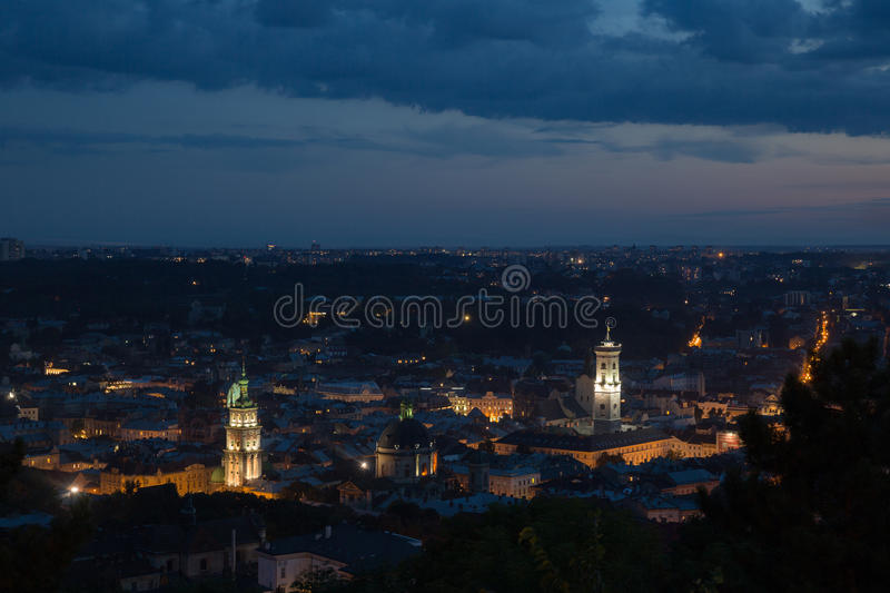 A roofs of Lviv royalty free stock photography