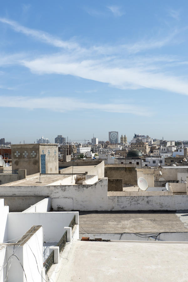 Roofs of Medina, Tunis stock photography