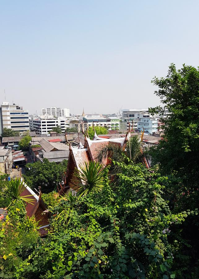 The roofs of the national houses of Thais in modern times royalty free stock photos