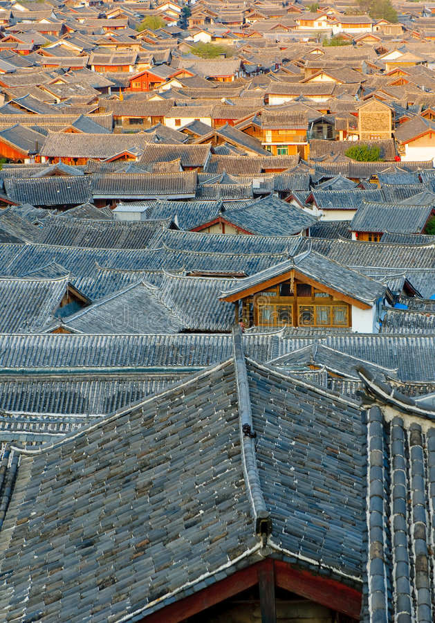 Free Roofs Of Lijiang Old Town, Yunnan, China Stock Photo - 9162900