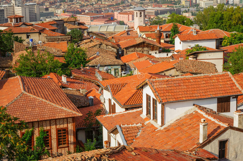 Roofs of old ankara. Wrecked roofs of old ankara, capital of Turkey royalty free stock images