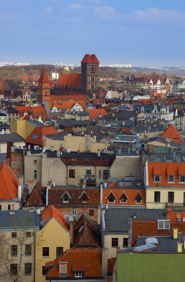 Roofs Of Old Town,  Torun, Poland Stock Photography