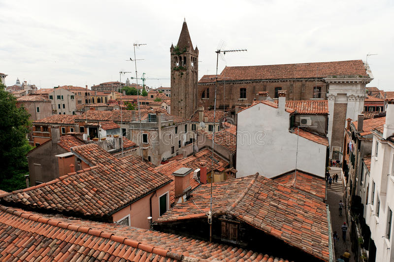 Roofs over Venice. stock photos
