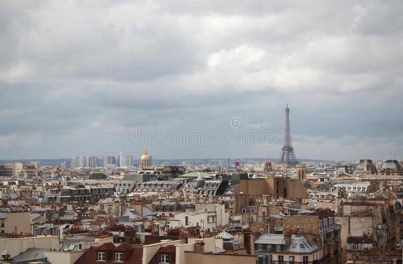 Roofs of Paris stock images