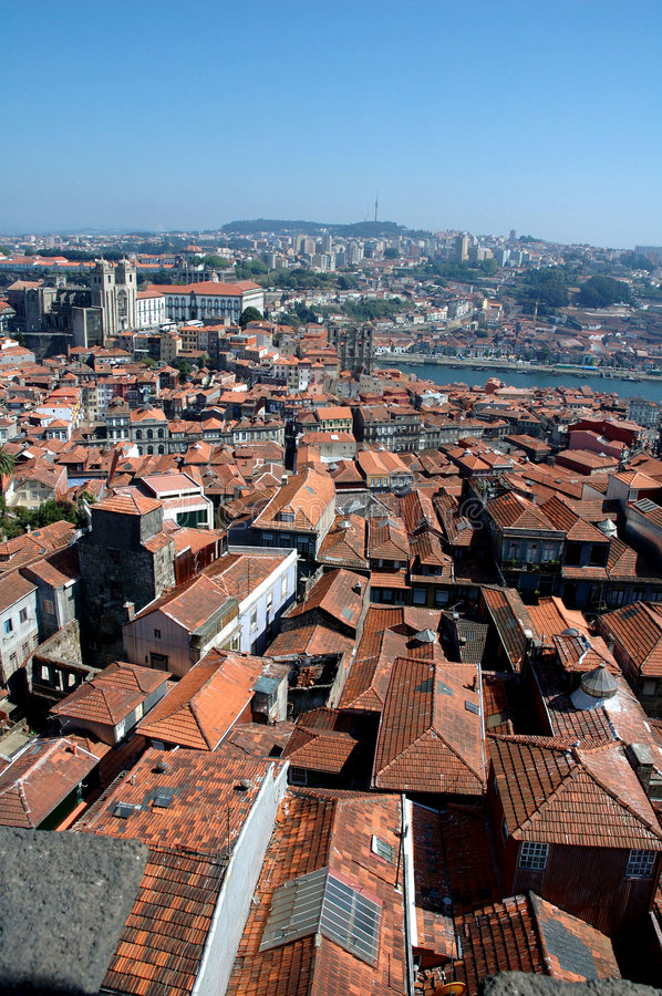 Roofs of Porto stock photography