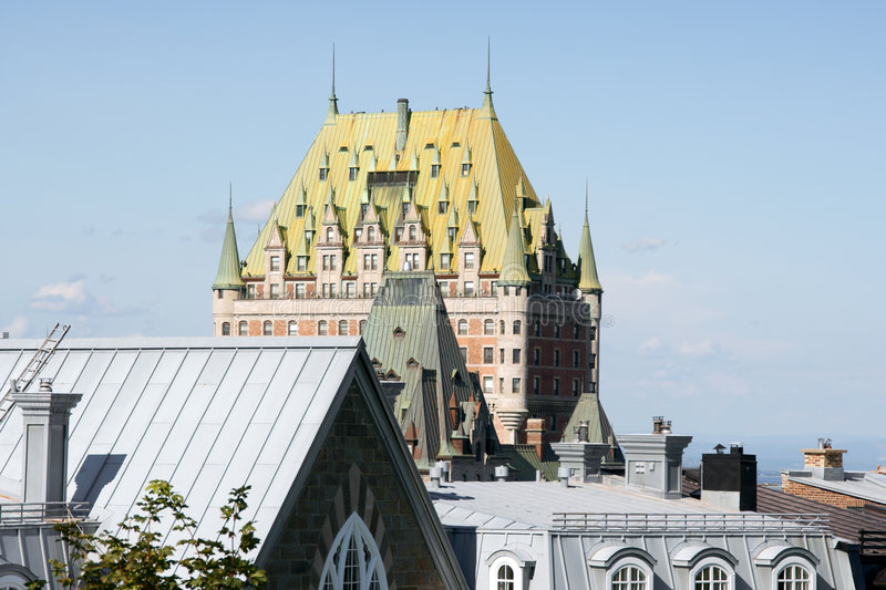 Download Roofs of Quebec City stock photo. Image of house, copper - 7753860