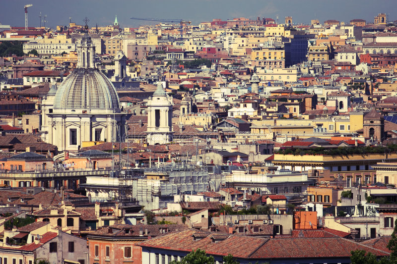 Roofs of rome royalty free stock image