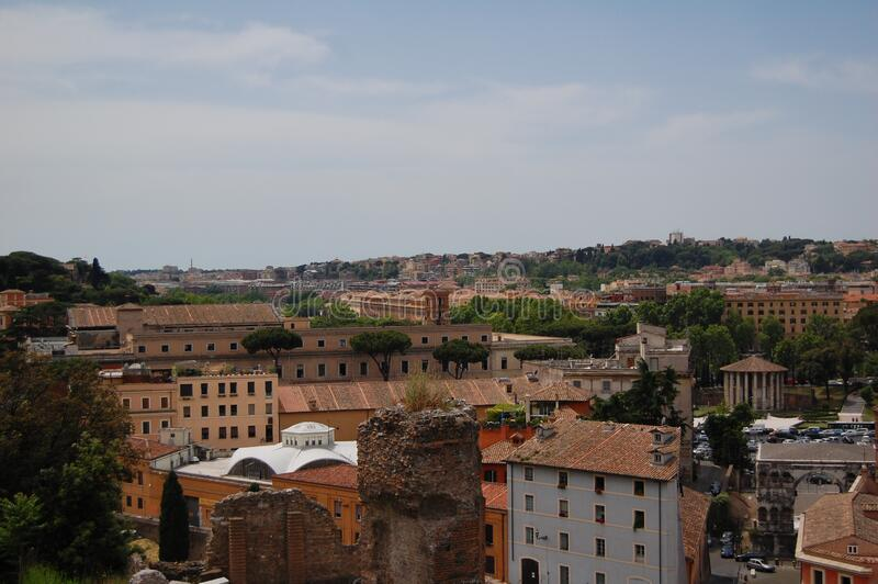 The roofs of Rome, Italy stock images