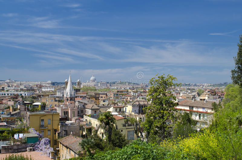 Download Roofs of Rome stock photo. Image of bright, blue, famous - 30565882