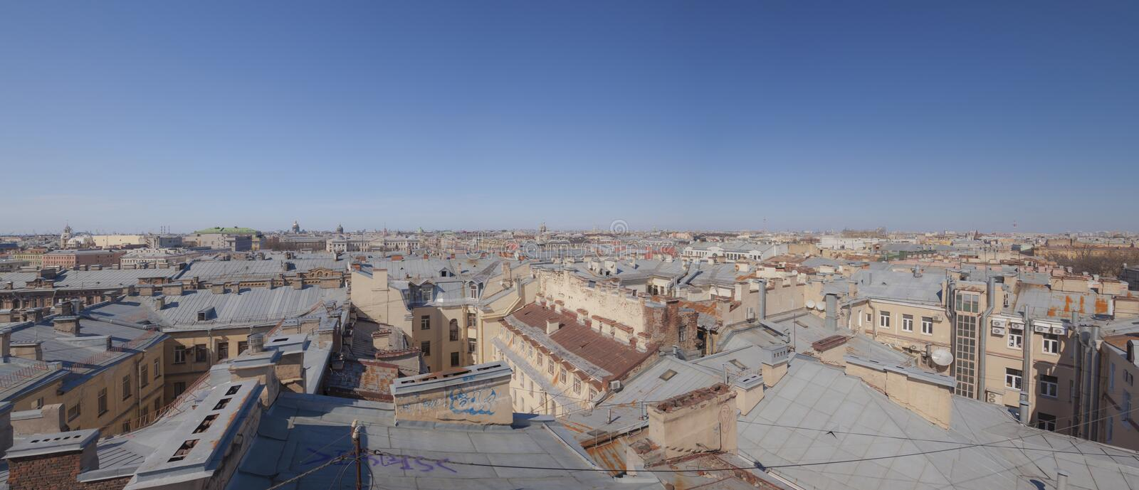 Roofs of Saint Petersburg royalty free stock photography
