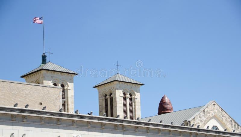 Roofs of San Antonio royalty free stock image