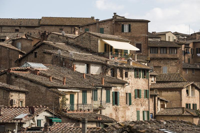 The roofs of Siena stock photography
