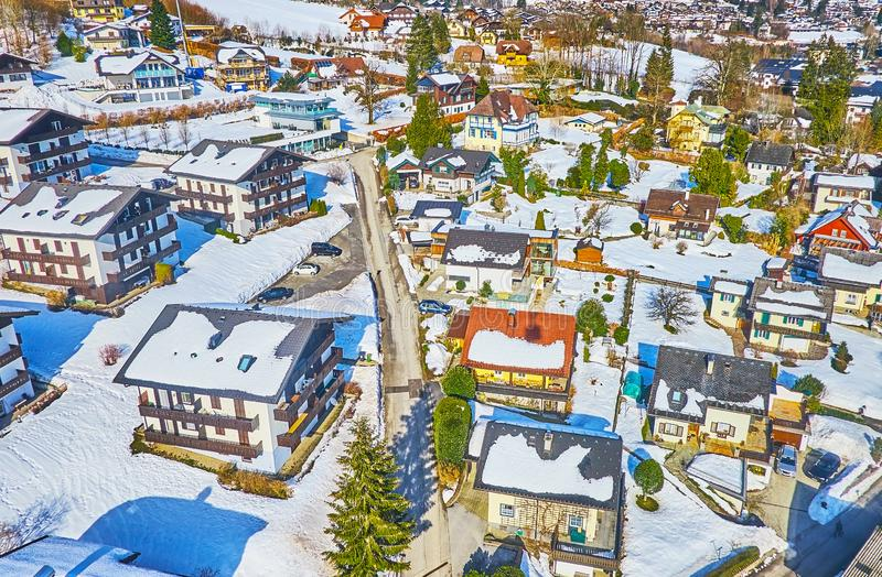 The roofs of St Gilgen, Salzkammergut, Austria royalty free stock image