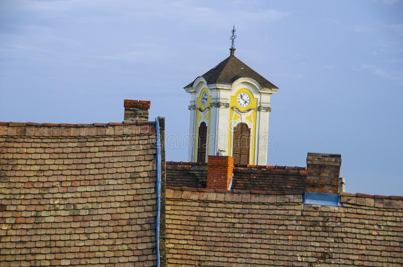 Roofs in Szentendre stock photography