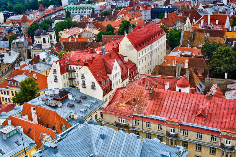 Download Roofs of Tallinn Old Town stock image. Image of residential - 24263675