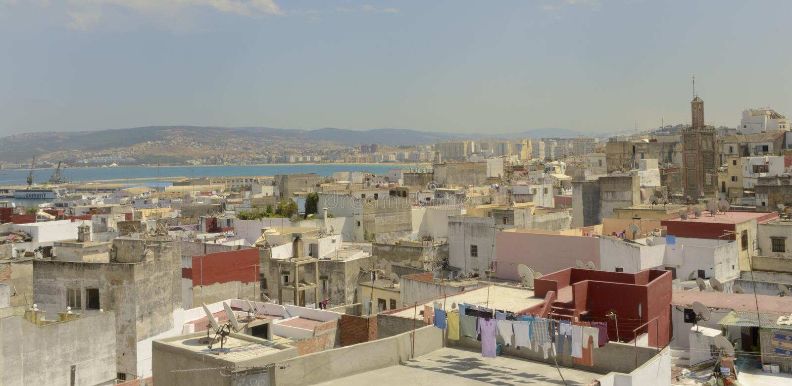 Roofs of Tangier stock image
