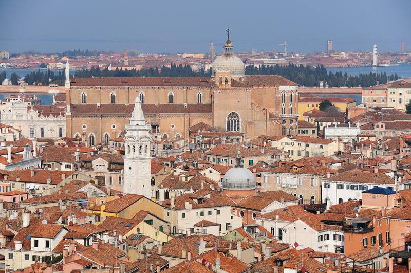 Roofs of Venice stock photography