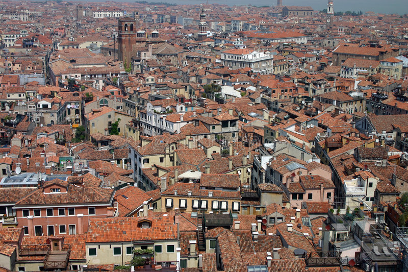 Download Roofs venice fotografering för bildbyråer. Bild av stad - 236529