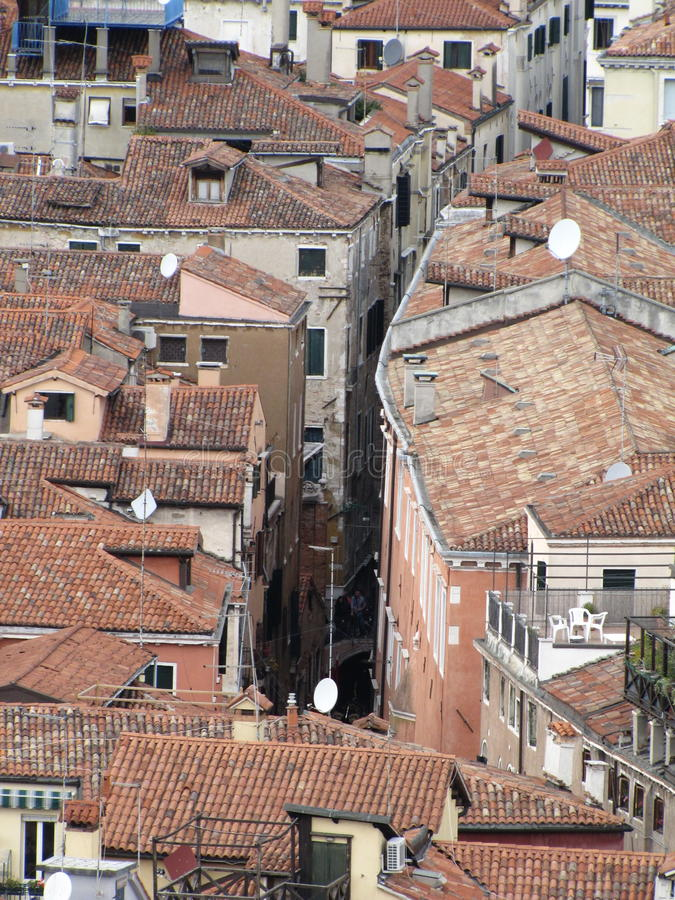The roofs of Venice stock photography