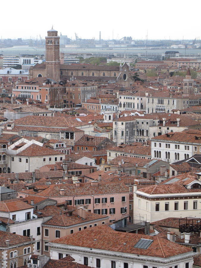 The roofs of Venice royalty free stock photo