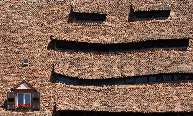 Roofscape Alsacia fotografía de archivo libre de regalías