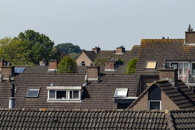 Roofscape telhou telhados Barendrecht Pa?ses Baixos fotografia de stock royalty free