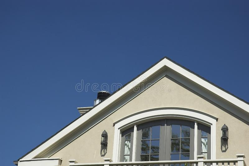 Rooftop against blue sky royalty free stock images