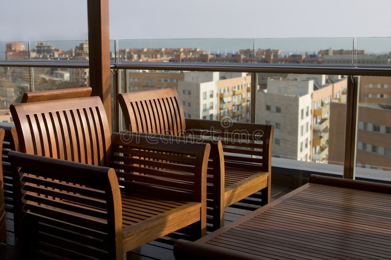 Rooftop bar stock images