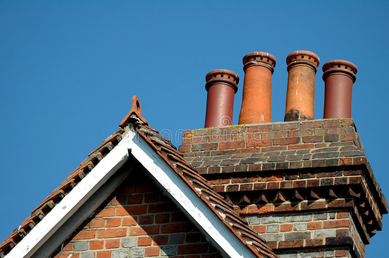 Download Rooftop on clear blue sky stock image. Image of building - 166605