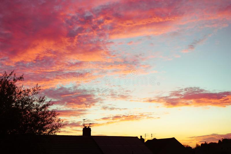 Rooftop dawn. royalty free stock photo