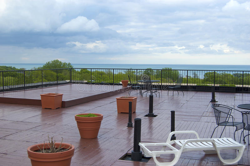 Download Rooftop Deck During A Summer Thunderstorm Stock Image - Image: 24331007