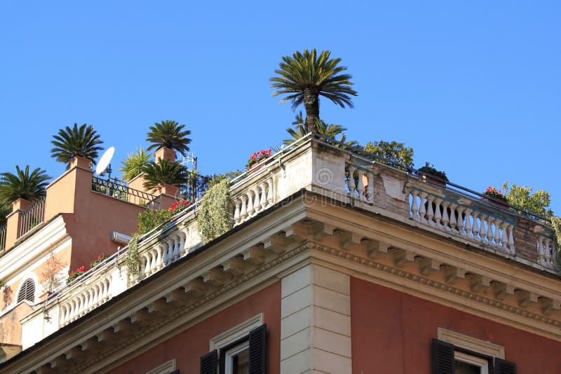 Download Rooftop garden in Rome stock photo. Image of building - 22114294