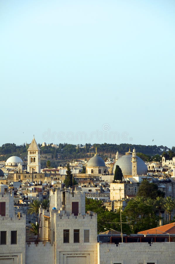 Rooftop  Jerusalem Israel architecture mosque