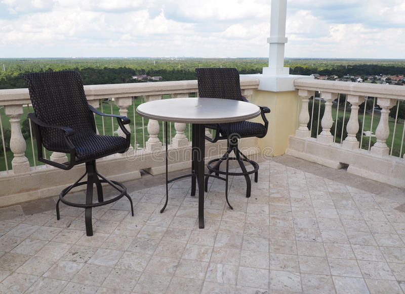 Rooftop patio stock photography
