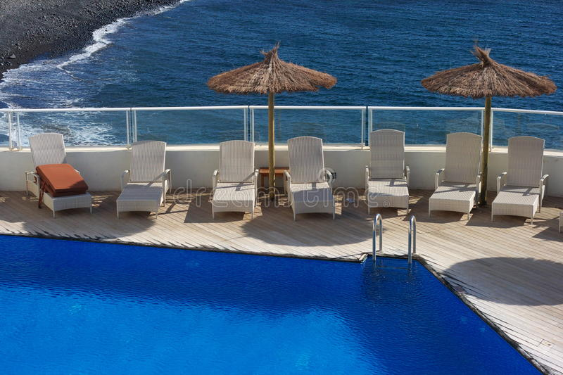 Download Rooftop Pool by Sea stock photo. Image of blue, beach - 17489212