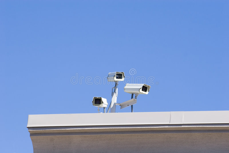 Rooftop Security royalty free stock image