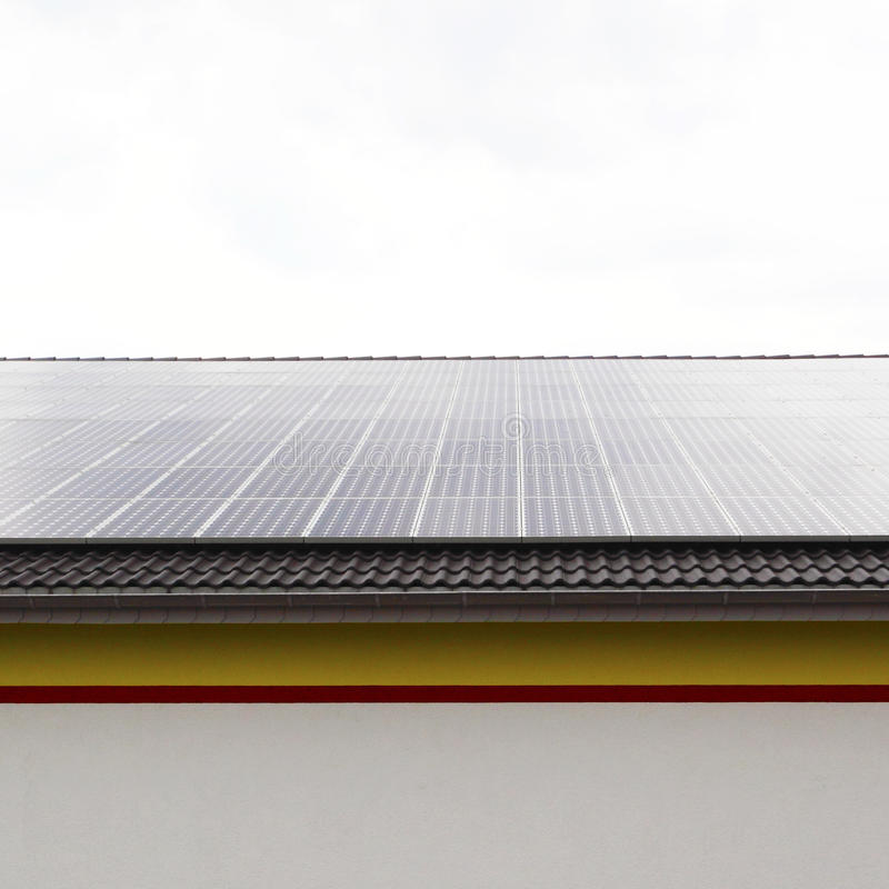 Download Rooftop solar panel stock photo. Image of collector, structure - 10673024
