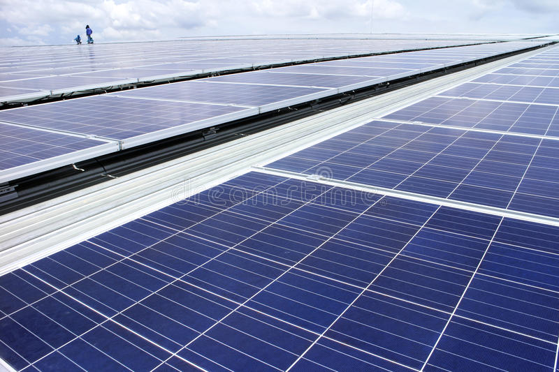 Rooftop Solar PV System stock photo