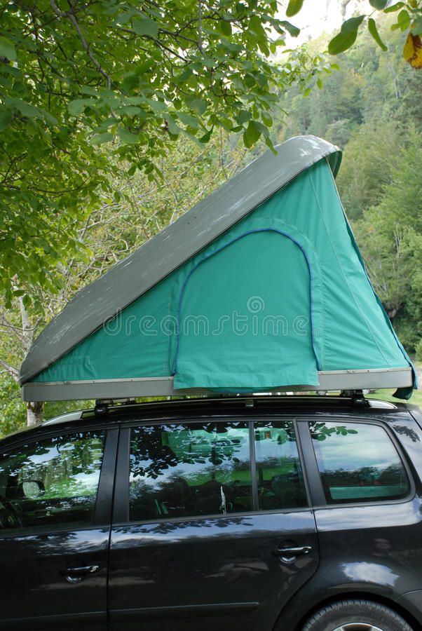 Rooftop Tent stock photography