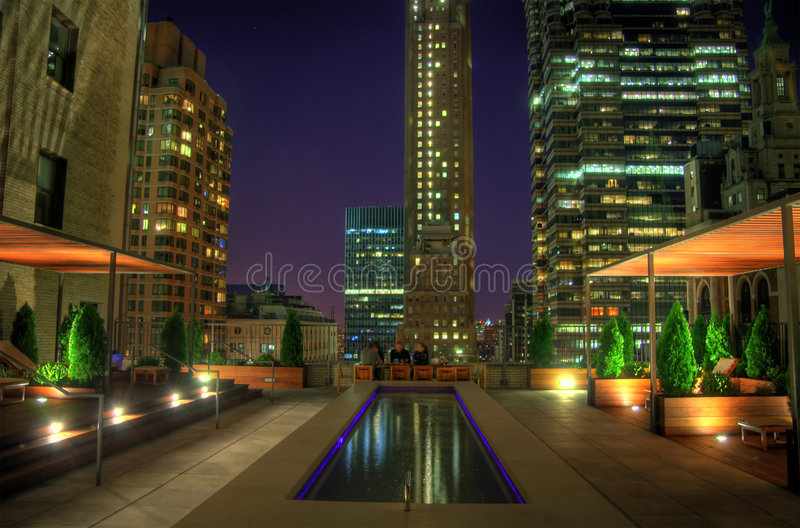 Download Rooftop Terrace stock photo. Image of urban, high, nightime - 8551942
