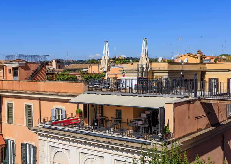 Download Verandas On Roman Apartments Stock Photo   Image Of Facade,  Travel: 112381346